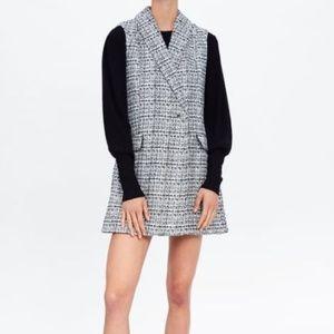 NWT Zara Tweed sleeveless Jumpsuit Dress